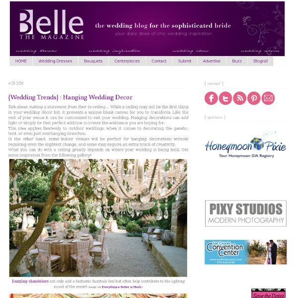 {Wedding Trends} : Hanging Wedding Decor