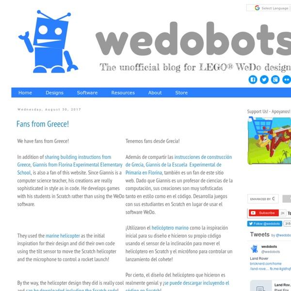 WeDoBots: LEGO WeDo | Pearltrees