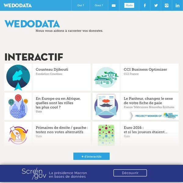 Wedodata - Agence/Studio de Dataviz