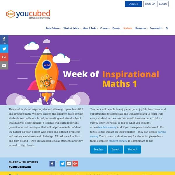 Week of Inspirational Math