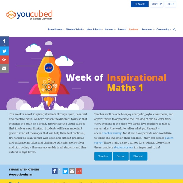 Week of Inspirational Math