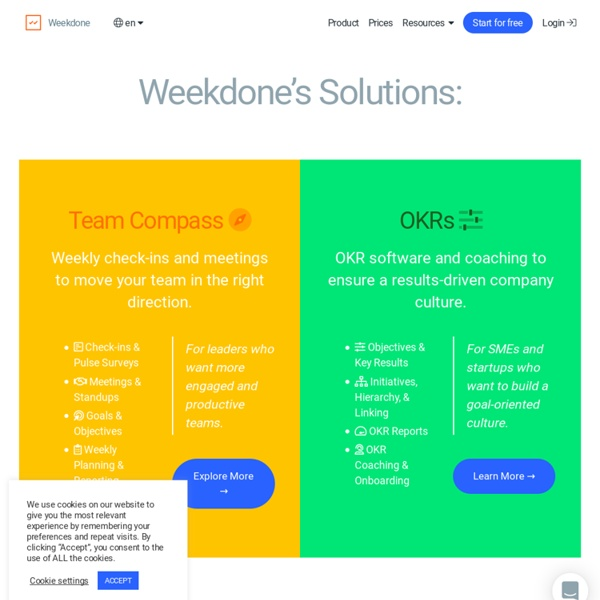 Weekdone weekly progress reports for managers and internal communication for teams