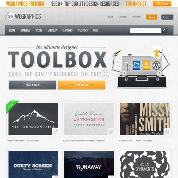 WeGraphics - Premium vectors, textures and Photoshop brushes