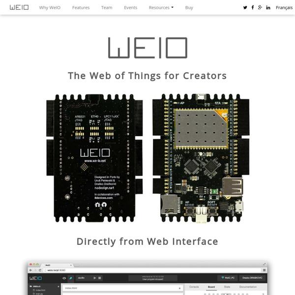 WeIO Web of Things platform