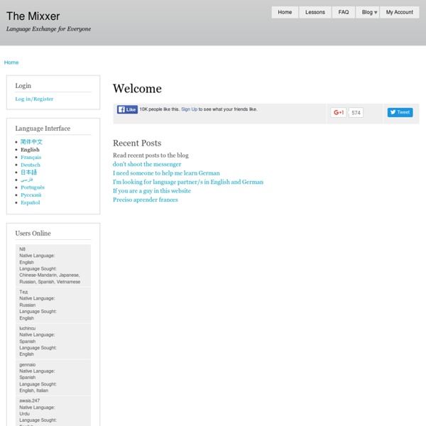 The Mixxer - a free educational website for language exchanges via Skype