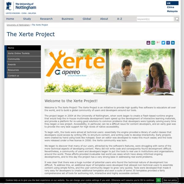 Xerte - Open Source E-Learning Developer Tools