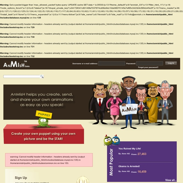 Welcome to AnMisH - Log in or Sign up.