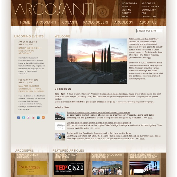 Arcosanti : Home