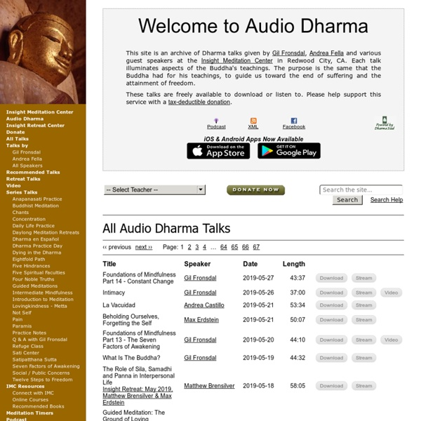 Welcome to Audio Dharma