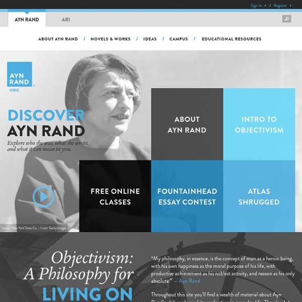 The Ayn Rand Institute: News and Highlights