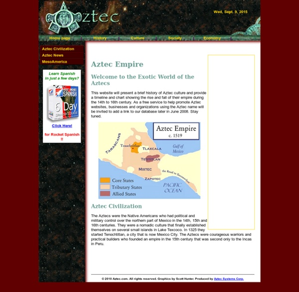 Welcome to the Aztec Civilization Website