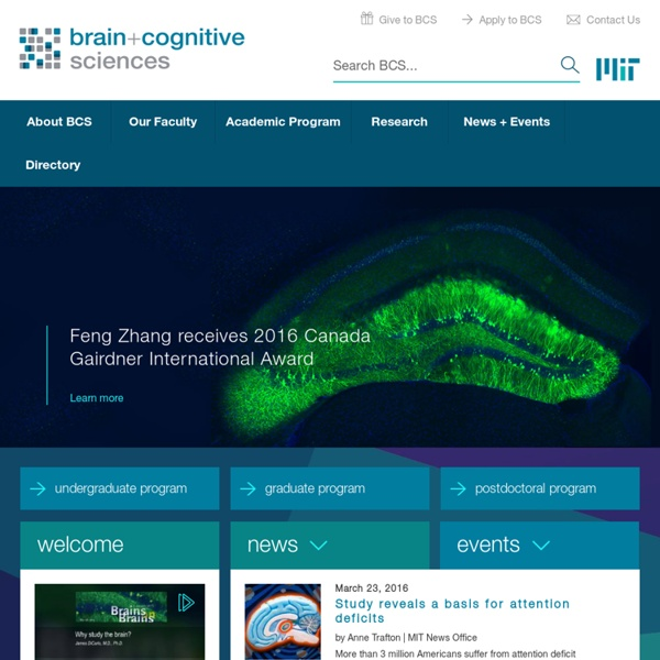 MIT : Brain and Cognitive Sciences