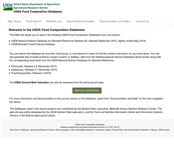 NDL/FNIC Food Composition Database Home Page