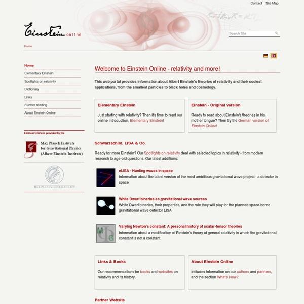 Welcome to Einstein Online - relativity and more! — Einstein Online