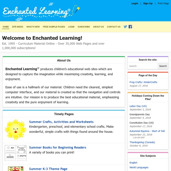 ENCHANTED LEARNING HOME PAGE