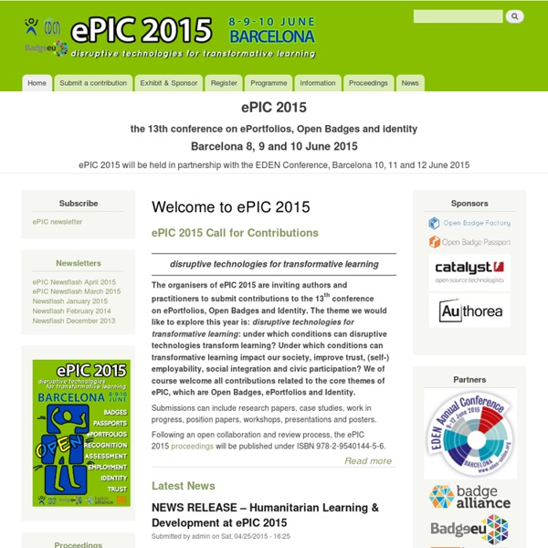 Welcome to ePIC 2015