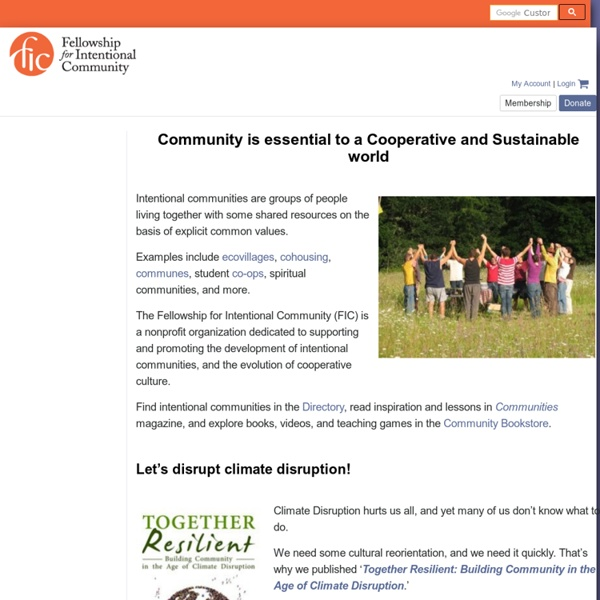 The Fellowship for Intentional Community website
