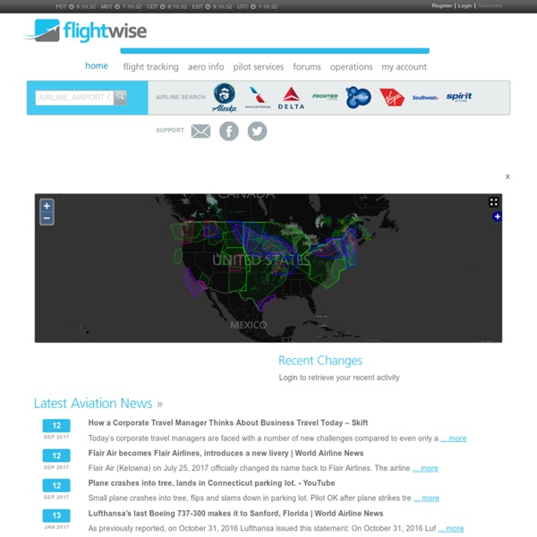 Flightwise free flight tracker - flight tracking, planning, maps, aeronautical and aviation information