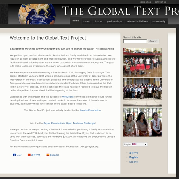Welcome to the Global Text Project