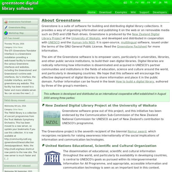 Greenstone Digital Library Software