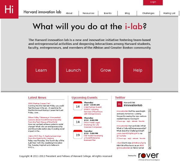 Welcome to the Harvard Innovation Lab
