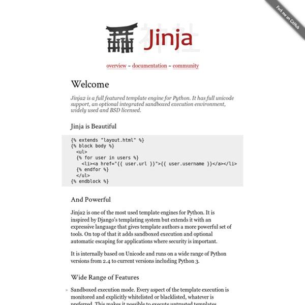 Jinja2 (The Python Template Engine)
