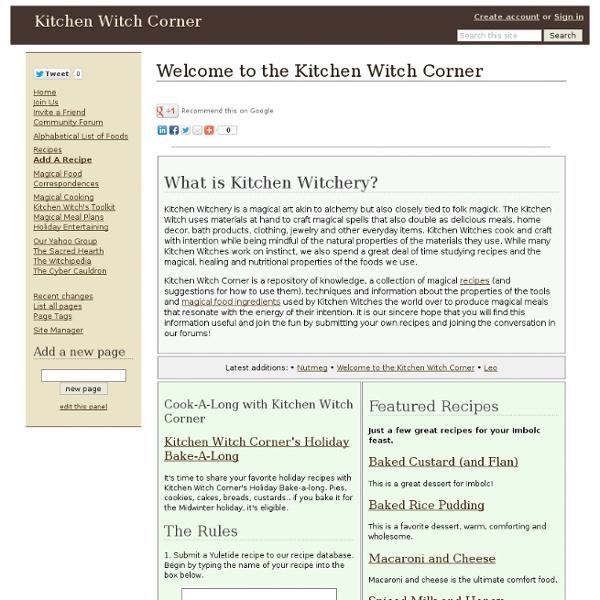 Welcome to the Kitchen Witch Corner - Kitchen Witch Corner