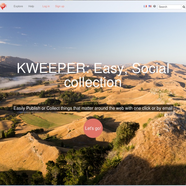 Hey ! welcome on kweeper. Easy, Social collection