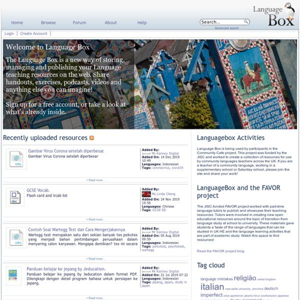 Welcome to Language Box - Language Box