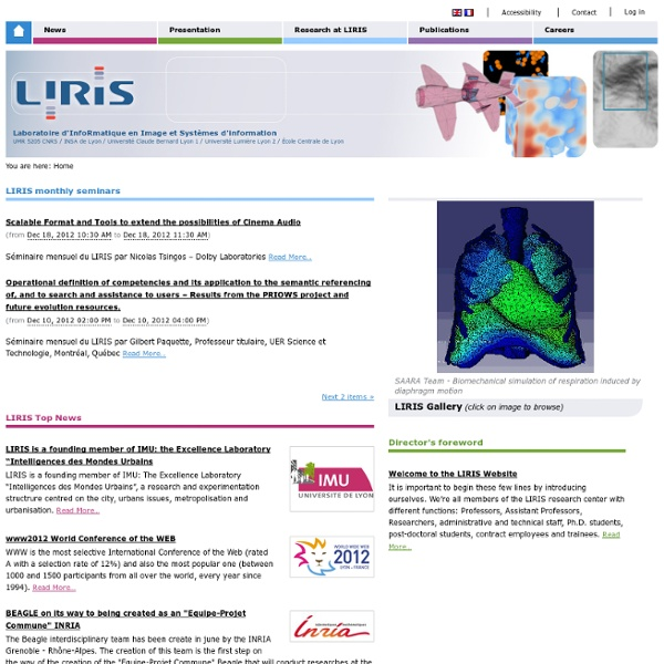 Bienvenue sur le site Web du LIRIS — LIRIS