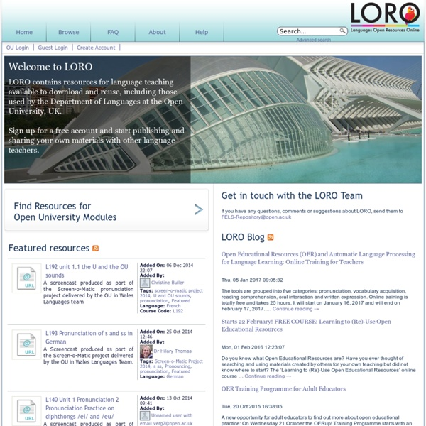 Welcome to LORO - LORO