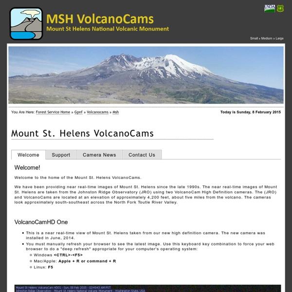 Mount St. Helens VolcanoCams - Mount St. Helens National Volcanic Monument