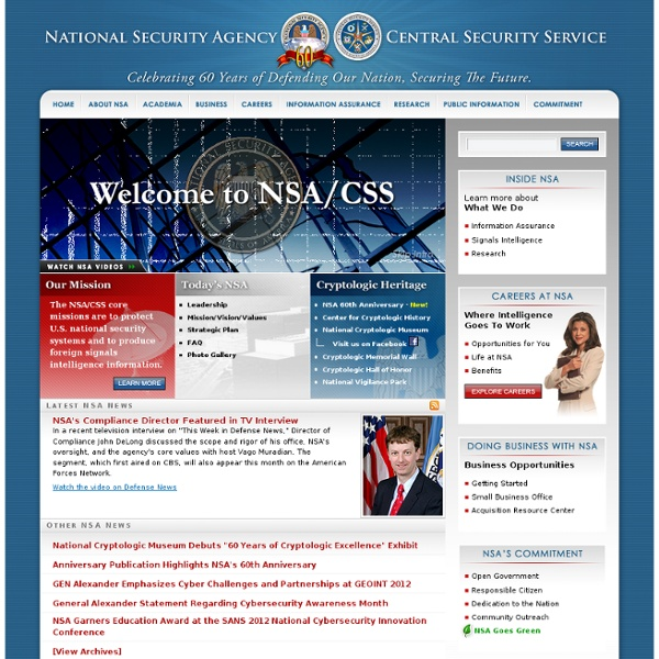 Welcome to the National Security Agency