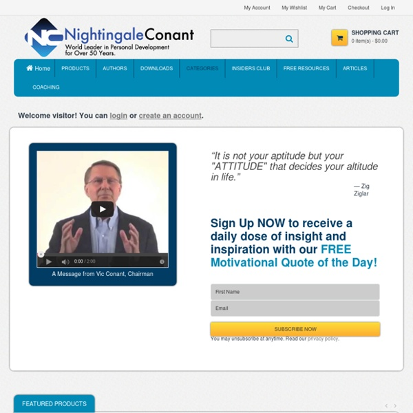 Nightingale Conant: World Leader in Success, Personal Development and Motivation.
