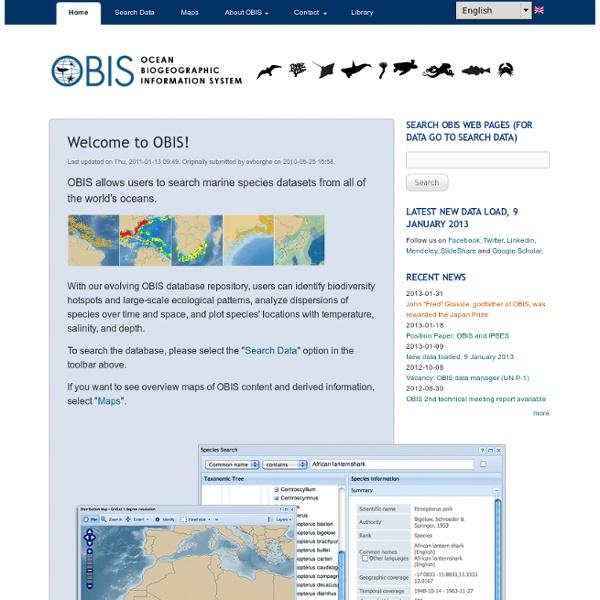 Ocean Biogeographic Information System