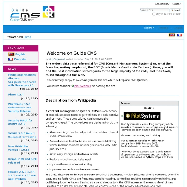 Guide CMS — Guide CMS