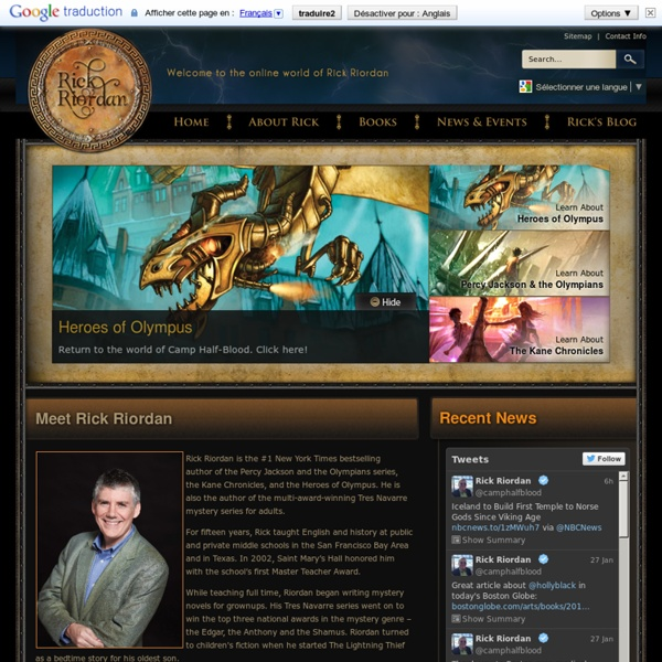 Welcome to the Online World of Rick Riordan!