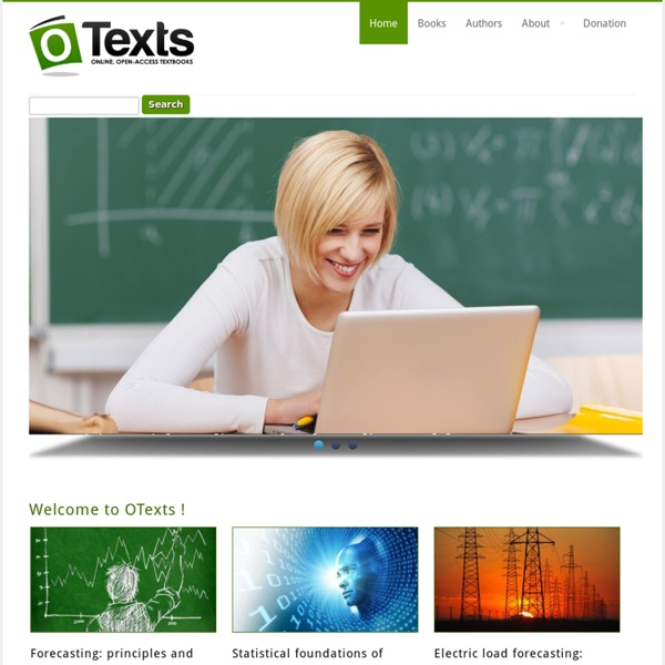 Welcome to OTexts !