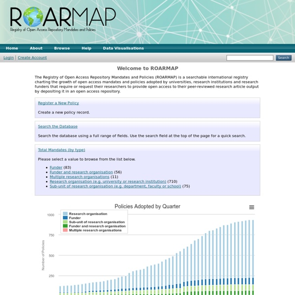 OA Repository Mandates and Policies