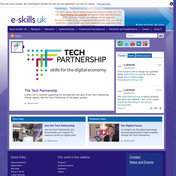 Welcome to e-skills UK
