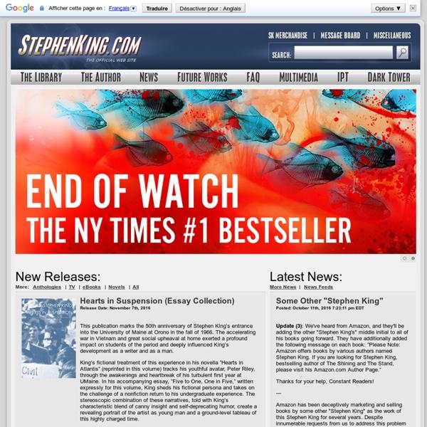 Welcome to StephenKing.com