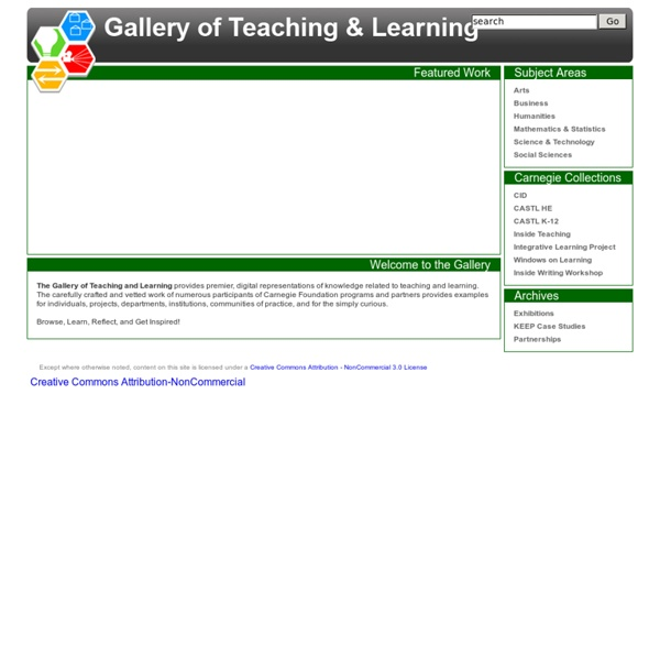 The Gallery of Teaching and Learning