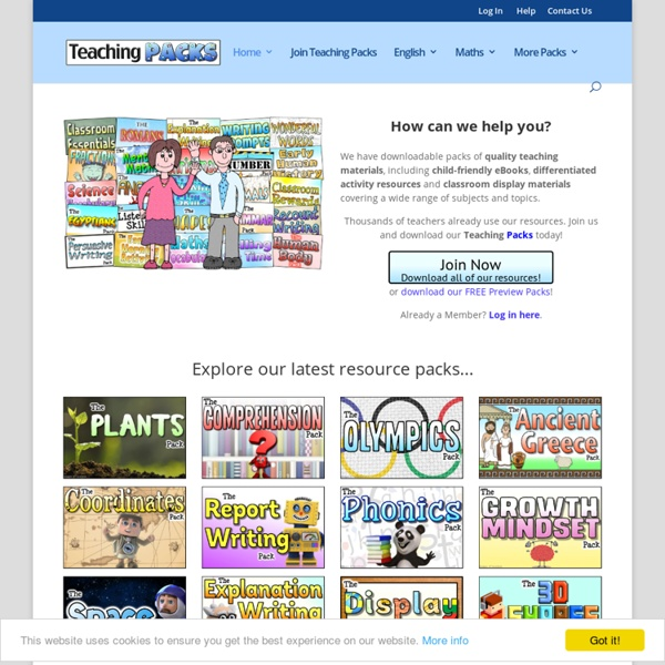 Welcome to Teaching Packs -
