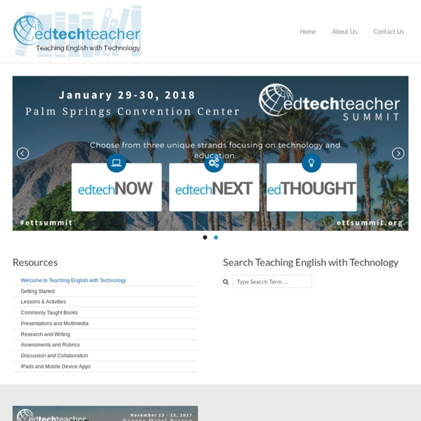 Welcome to Teaching English with Technology - Teaching English With Technology