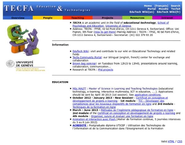 Bienvenue à TECFA