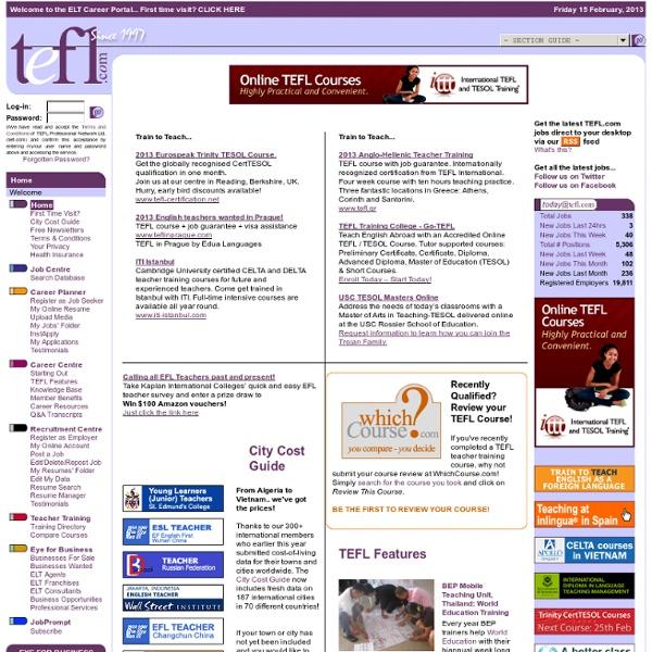 Welcome - TEFL.com