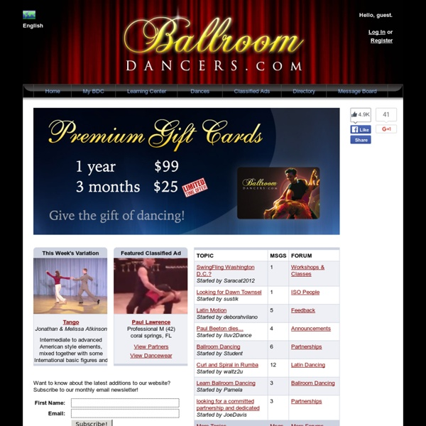 Welcome to the NEW Ballroomdancers.com!