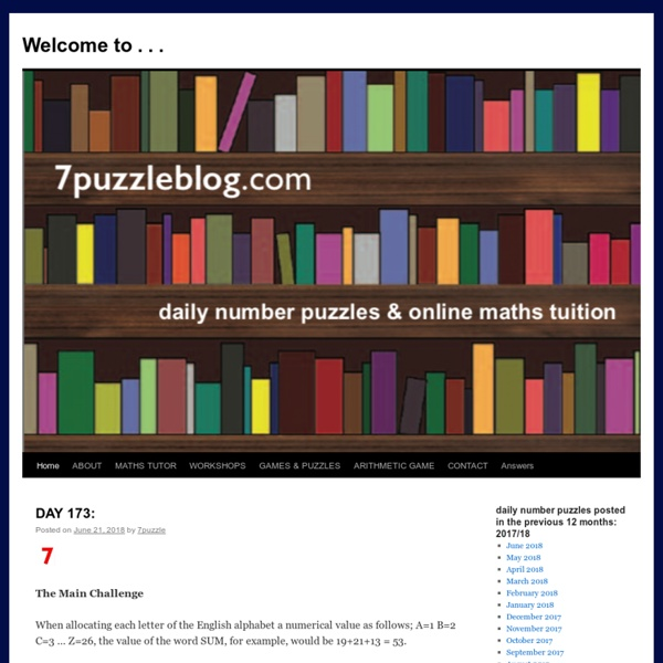 Home of the daily Maths Challenge