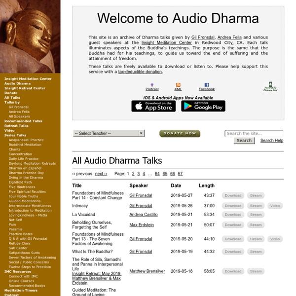 Audio Dharma - Welcome to Audio Dharma