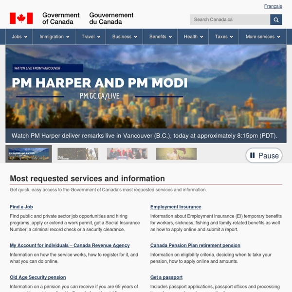 Home - Government of Canada Web site